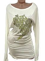 Красивое трикотажное платье-туника (в расцветках)