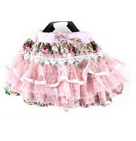 Юбка для девочки многослойная розовая с фатином туту