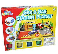 "Набор для лепки ""Заправочная станция"" (пластилин) Kid's Dough: 4 цвета"