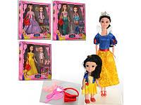 Кукла с дочкой и аксессуарами Disney Princess S46-1, 4 вида