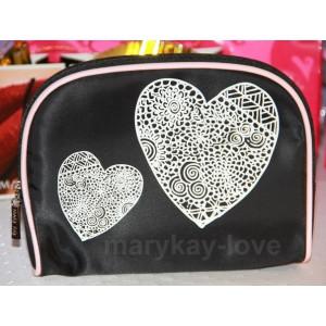 Косметичка Мери Кей с сердцами и логотипом Mary Kay