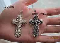 Мужской крестик из серебра