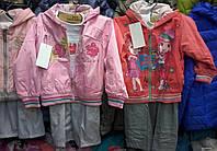 Детские весенние костюмы-тройка для девочек 1-2-3 года S446