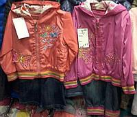Детские весенние костюмы для девочек :ветровка и джинсы ,возраст 1-2-3 года S447