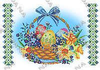 """Схема вышивки пасхальной салфетки """"Цветы на Пасху"""""""