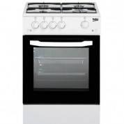 Газовая плита BEKO CSG 42011 GW (белая , 4 конфорки ,электророзжиг , гриль газовый , газ-контроль духовки)