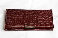 Женский кошелек из искусственной кожи коричневый