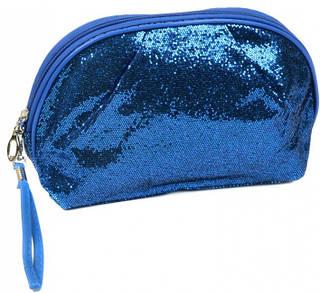 Шикарная женская косметичка искусственная кожа 3204 blue