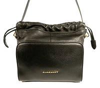 Брендовая кожаная сумочка Burberry 86450 черная
