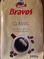 Кофе Bravos Classic 1 кг. Зерновой кофе, Кофе Бравос Классик кофе в зерне. Цена указа от 10 шт.