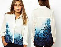 Блуза с принтом цветы