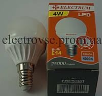 Лампа Led Е-14 4W 4000К (шарик)