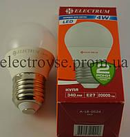 Лампа Led Е-27 4W 4000К (шарик)