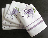 Полотенце OZDILEK -  С вышивкой  Kasimpati (Бiлий, Лiловий)
