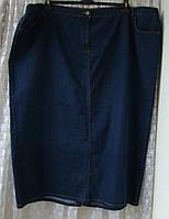 Юбка женская джинсовая большой размер супер батал макси бренд Anya р.64 5840