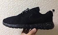 Кроссовки мужские Nike Roshe Run Black (реальные фото)