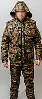 Костюм камуфляж, рыбалка-охота , ткань Бондинг, рукава отстегиваются размеры 48-62 р