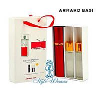 Подарочный набор парфюмерии Armand Basi In Red Арманд Баси ин Ред мини духи 3*15мл