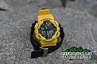 Спортивные наручные часы Casio G-Shock GA 100 Желтые