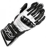Мотоперчатки воловья кожа карбоновая защита силиконовые вставки косточек RST размер S