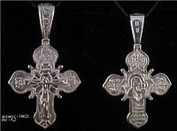 Мужской крестик серебряный