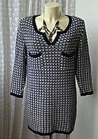 Платье женское зимнее теплое элегантное с люрексом мини бренд M&S Woman  р.48 5853а