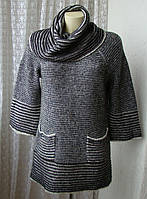 Свитер туника женская вязаная зимняя элегантная бренд Roman р.46 5854