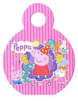 Медаль на ленте свинка Пеппа 74мм диаметр