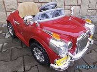 Детский электромобиль CABRIO Re красного цвета с пультом дистанционного управления