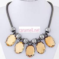 Женское ожерелье Пять камней. Разные цвета