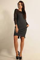 Демисезонное асимметричное платье трикотаж Джерси