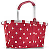 Интересная сумка-корзина складная на 22 л Reisenthel BK 3014-ruby dots