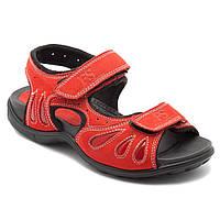 Спортивные сандалии для девочки, кожаные, размер 32-39