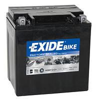 Аккумулятор для мотоцикла гелевый EXIDE SLA12-31= AGM12-31  30 Ah 166x126x175