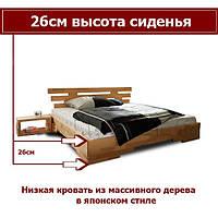 """Деревянная кровать """"Япан 3"""" ТМ КИНД (180х200)"""