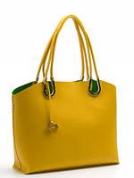 Кожаная сумка с косметичкой в 5ти цветах L-DA80745-2
