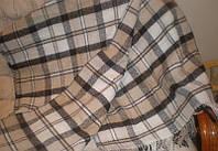 Плед Палермо белый беж коричневый 140*200 Влади