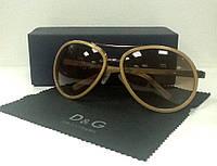 Очки Dolce&Gabbana солнцезащитные бежевые.