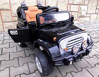 Детский электромобиль BIG JEEP черного цвета и с пультом управления, слотом MP3 + гарантия 12 месяцев