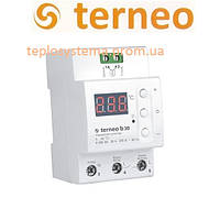 Мощный терморегулятор для теплого пола Terneo b 30 (на DIN-рейку), Украина