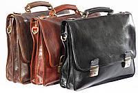 Мужской портфель из итальянской кожи