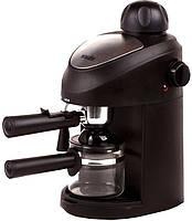Подарок гурману кофе, Кофеварка Magio MG-341S Эспрессо, кофе молотый, 2-4 чашки, 3,5 бар, ручной капучино,