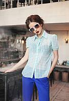 "Женская блузка рубашка с коротким рукавом ""Лето"""