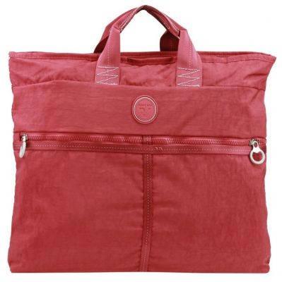 Сумка качественная с карманом для I-Pad тканевая 7 л. Roncato Rolling 7104/09 красный