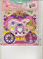 Наклейка принцеса объемная  22  х  18