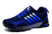Кроссовки унисекс, черно-голубые, фото 1