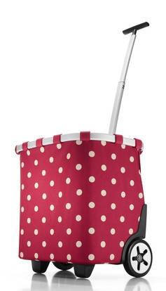 Привлекательная сумка-корзина на колесах 40 л Reisenthel OE 3014-ruby dots