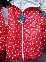 Красивая детская куртка-жилетка.