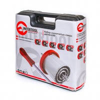 Набор корончатых сверл для плитки 5 ед. 33-83 мм, вольфрам. напыление + напильник и чемодан. INTERTOOL SD-0428