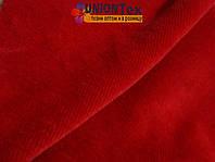 Велюр натуральный х/б красный (180см)